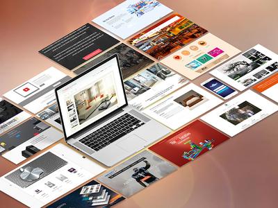 Website Mockups wordpress css html websites web