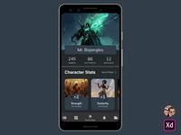 Stats Screen - Digital Character Sheet Mobile App