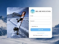 Login Page - Big Air Mountain