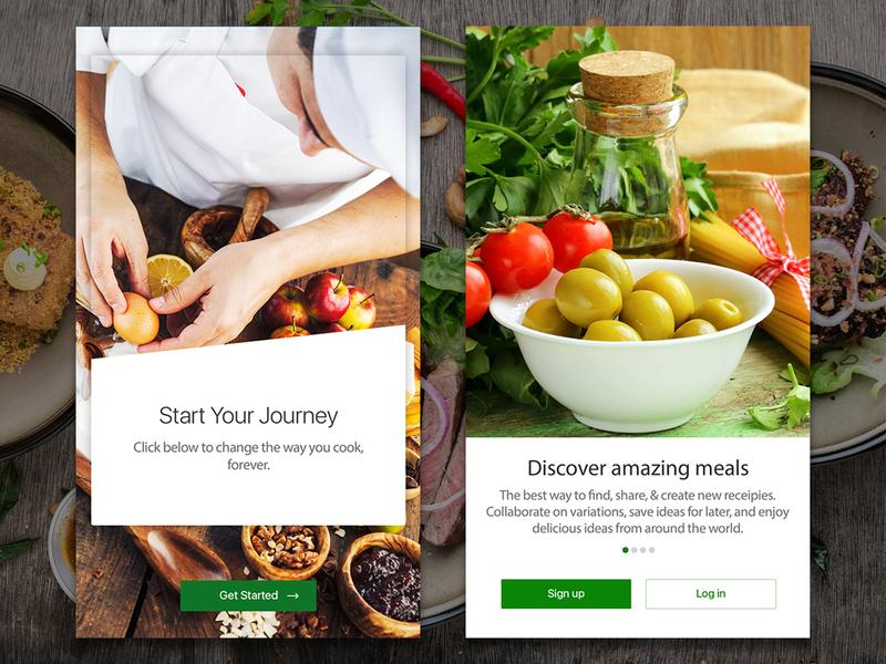 Cooking App Onboarding food cooking app mobile ux ui design