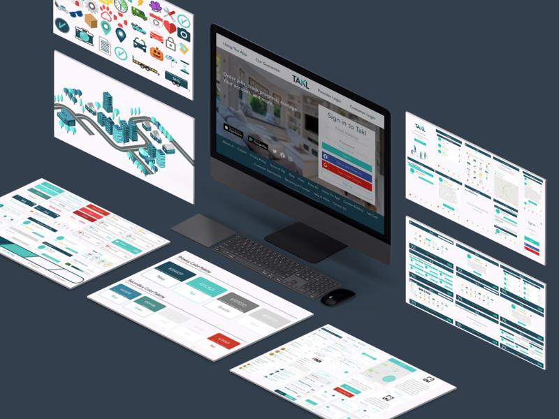 Design System - Takl design systems design system mockup app mobile ux ui design