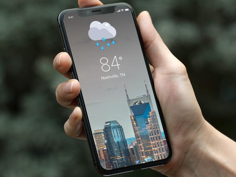 Minimal Weather App minimal weather app ui mobile design ux