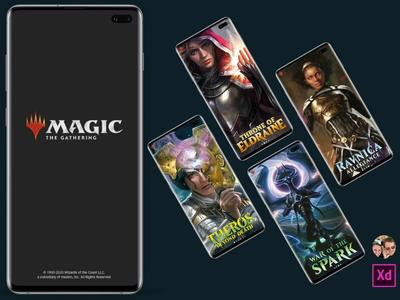 MTG Companion App gaming companion arena magic the gathering mtg app ux ui mobile design