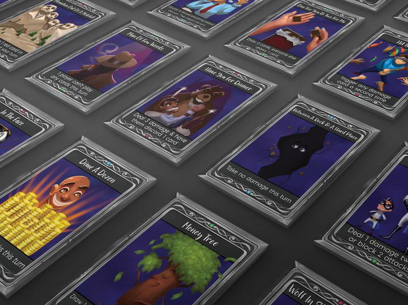 Cards & Stuff - Release 2 golden walrus golden walrus games cards and stuff cards-and-stuff game games card games illustration branding vector design