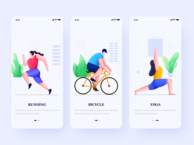 Sports App Guide page sports app ui illustration