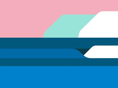 Under an Arctic Sky advertising travel landscape illustration ocean life surfing surf ocean