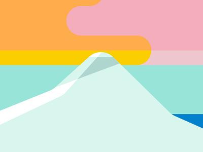 Under an Arctic Sky scenes color adobe illustrator landscapes advertising illustration travel illustration mountain