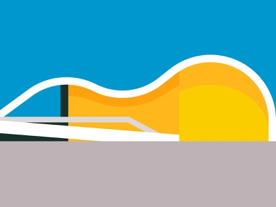 Teatro Popular de Niteroi graphic illustration vector adobe illustrator advertising brazil architect architecture niemeyer