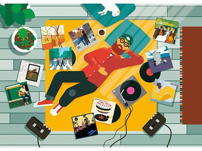 In My Room advertising scenes interiors adobe illustrator lifestyle vector album cover album art records music graphic illustration