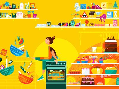 Kitchen of Ideas colorful lifestyle inspiration confectionary sweet cake food interior design baking bakery kitchen ideas