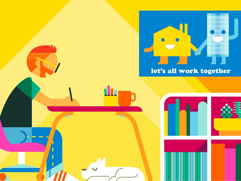 Illustrator's Survey interiors editorial scenes advertising adobe illustrator lifestyle people color vector graphic illustration