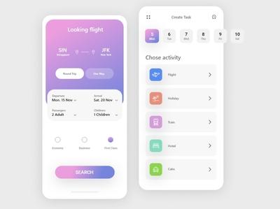Ui Ux Design for flight booking app online booking plane flight status soft ui figmadesign design graphic design uiux user experience app ui design ui design app design adobe xd flight booking app