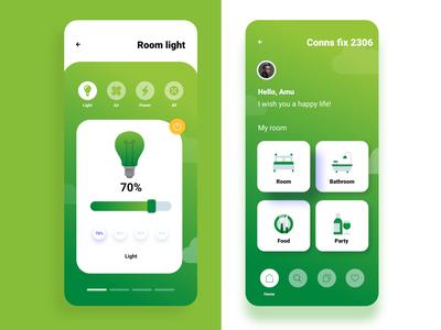Ui Design For Smart Room Control app
