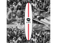 Lips Surfboard for Odd Velvet