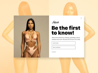 Swimwear Brand Email Pop-up email mockup concept design web design ecommerce webdesign digital design ux ui