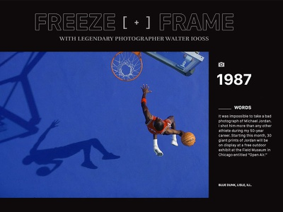 Freeze Frame Blog Concept web design webdesign digital design interface mockup ux ui design concept inspiration