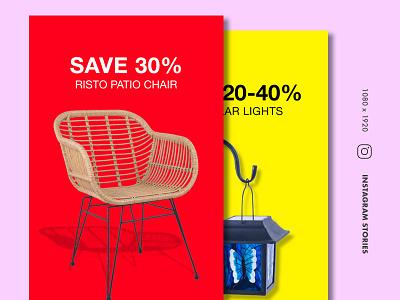 Furniture Instagram Stories web design ecommerce webdesign digital design interface mockup ux ui concept instagram