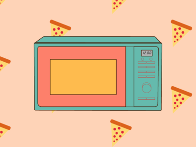 insomnia. illustration style pizza microwave pattern insomnia