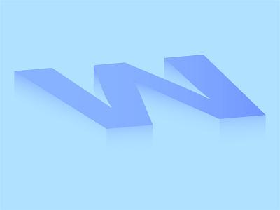 W designer animation typography illuatration illustration art design illustrator dribbble vector illustration