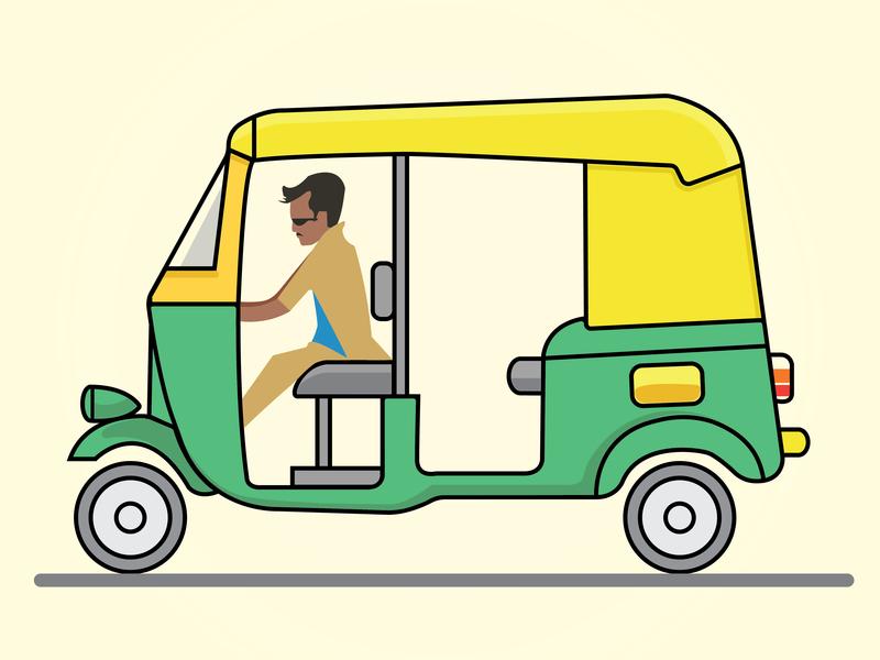 Baashha_Rajinikanth ui design drawing dribbble illustration animation motion motion animation autoride auto animate life driver app after effect chennai freshworks tamilnadu superstar rajinikanth driver auto