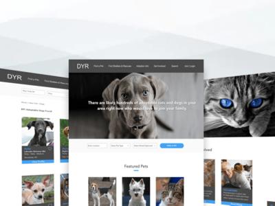 Pet Adoption Platform adopt a pet search bar listing layout homepage wireframe sketch pet clan concept pet adoption ui design