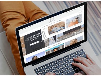 Mirror E-commerce theme flat design menu navbar drop-down menu homepage shopping website ui design fashion e-commerce