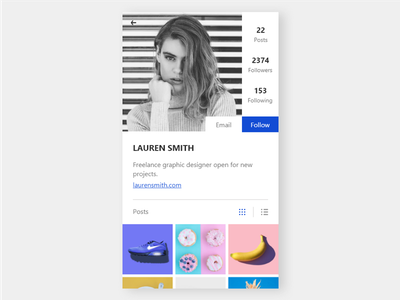 Profile UI Design modern design mobile ui profile