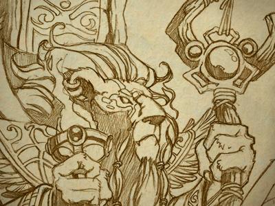 Lion Mage By Edson K Dribbble Dribbble