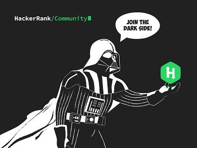 Darth Vader for HackerRank | Illustration hackerrank sith lord vector dark mode star wars tshirt illustration darth vader
