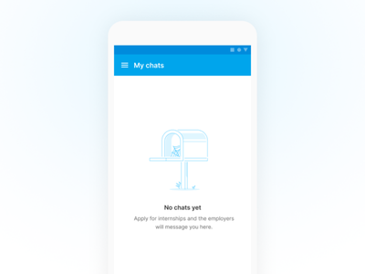 No chats | Internshala app empty chat figma ui app empty state no message illustration