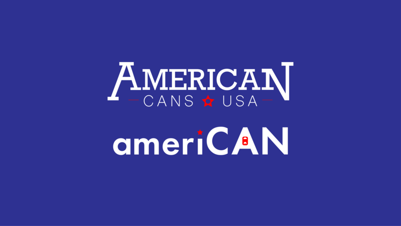 American Canning Company can design us star american america usa logo blue company can fake