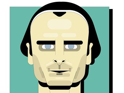 Berbatov Manchester United football soccer portrait vector illustration berbatov