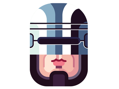 Robocop - WIRED Italy editorial portraits wired italy vector illustration