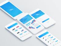 Nike shoes shop mobile app design concept