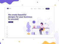 Design Agency Website Landing Page