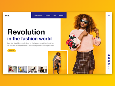 Fashion Agency Landing Page gillsans fashion blog landing page concept modern landing page fashion agency landing page ui ux design fashion agency fashion company girl fashion
