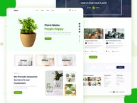 Plant Landing Page Design Freebie