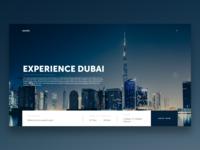 Experience Dubai Travel UI