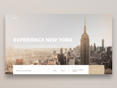 Experience New York Travel UI