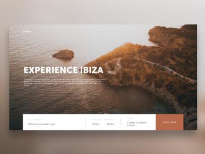 Experience Ibiza Travel UI