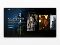HBO - Game of Thrones UI Concept