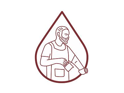 Dan the Barista coffee vector character editorial ui barista figure illustration