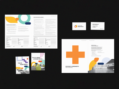 York University Student Centre Rebrand poster business cards booklet package photography collage layout geometric typography logo print rebrand branding editorial