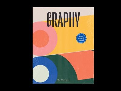 Graphy Magazine Cover issue offset print mockup magazine cover stickers abstract illustration icon typography packaging editorial cover magazine