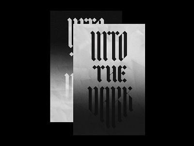 Into the Dark flat editorial gradient print poster type design font typeface typography custom