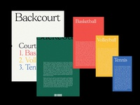 Backcourt 02 cover mockup book sports print branding design icon typography editorial