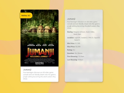 cinema card ( Hover state)