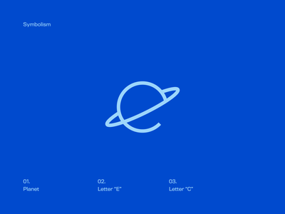 Beth Brands personal project personal brand personal logo universe icone branding letter e letter c planet icon brand bethbrands