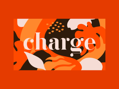 Brand Charge coffee shop colors leafs leaf draw identity brand coffee charge