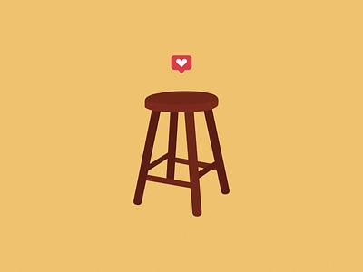 Tamborete sofa bank stool drawing draw forro tamborete
